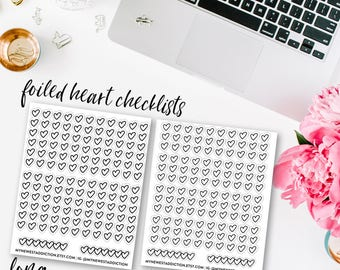 Foiled Heart Checklists