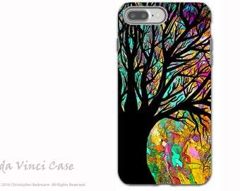 Tree Silhouette - iPhone 7 PLUS - 8 PLUS Tough Case - Colorful Abstract Art Dual Layer Case for Apple iPhone 7 PLUS - Forbidden Forest