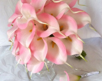 Pink Calla lily wedding bouquet