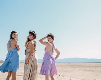 Lilac Convertible Wrap Dress ... 37 Colors... Lavender Dress,  Wedding Dress, Bohemian Dress,  Maternity Dress, Bridesmaids Dress