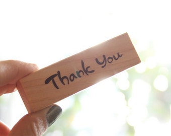 Simple Vintage DIY Crafts Wooden Rubber Stamp - Thank You