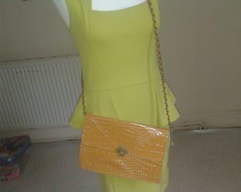 dark yellow chain bag