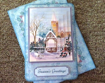 Handmade Christmas card with matching envelope
