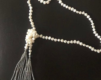 SPRING SALE!!Beaded necklace with tassle