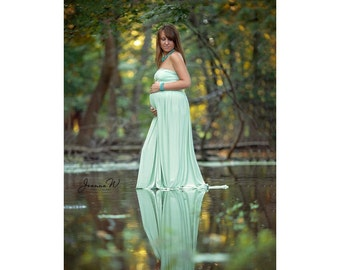 Maternity Dress-Maternity Gown for Photo Shoot-Sleeveless Maternity Gown -Maxi Gown-Pregnancy Dress-Maternity Dress-NO SPLIT PHILOMENA Dress