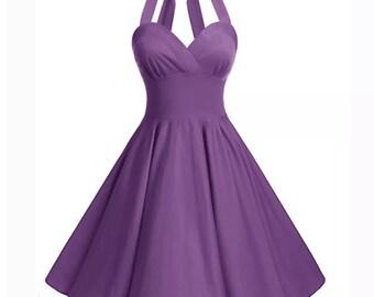 Purple halter vintage style 12