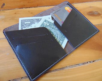 Personalized Leather Wallet, Mens Leather Wallet, Black Leather Wallet, Credit Card Leather Wallet, Minimalist Slim Leather Wallet