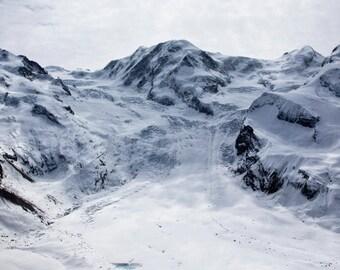 Glacier   White Blue Cyan Ice Winter Snow Peaks Summit Alps   Fine Art Photography   polychromatophil Grey Mist Black Rock Photo Cold
