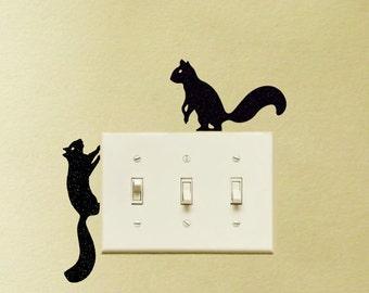 Squirrels Wandering Vinyl Decal Sticker Laptop MacBook Chipmunks Nursery Light Switch Decor