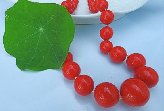 Vintage red necklace