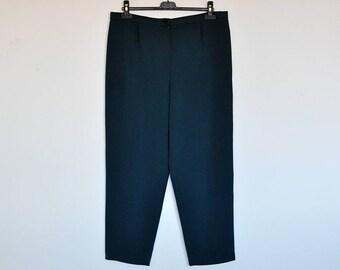 Vintage High Waist Teal Preppy Pants Dress Trousers