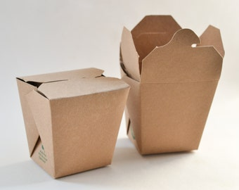 To Go Containers, 25 Large Take Out Boxes, Take Out Containers, To Go Boxes, Kraft Take Out Box, Favor Containers, Party Favor Boxes 32 oz.