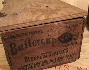 Vintage Wood crate with advertising