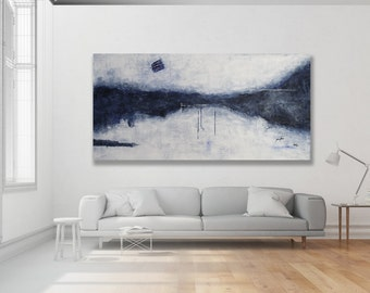 Textured XL Abstract Painting, Blue Painting / Texture Painting, Contemporary Art Painting, XL Painting, Large Painting