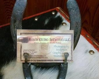 Horse business card etsy horseshoe business card holder colourmoves Choice Image