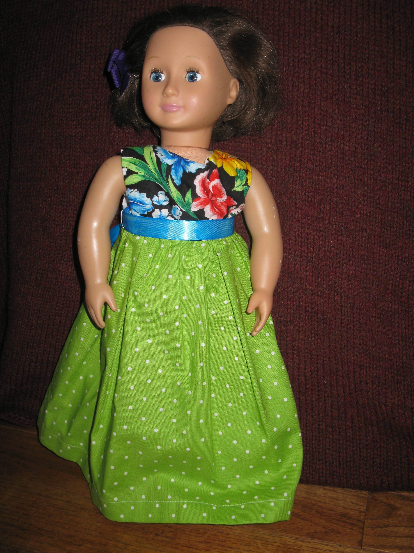 18 Puppenkleid: grün Partykleid