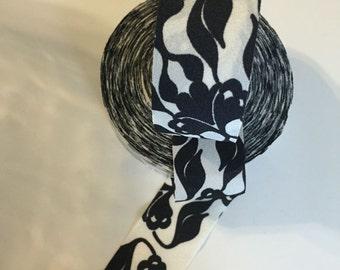 Vines Print Bias-cut Woven Fabric Ribbon - Lot