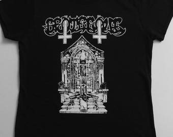 """GROTESQUE """" Ripped from The Cross """" Ladies T Shirt"""