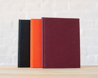 Small Maroon Bookcloth Hardcover Notebook | Journal | Sketchbook