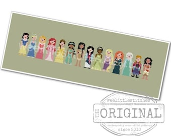 Storybook Princesses - The *Original* Pixel People - PDF Cross-stitch Pattern - INSTANT DOWNLOAD