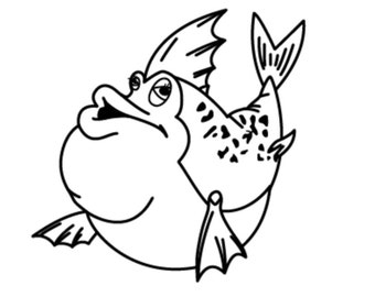 funny fish nursery vinyl decal/sticker