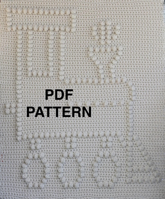 Choo Choo Train Baby Blanket Pattern - Crochet Pattern - Crochet ...