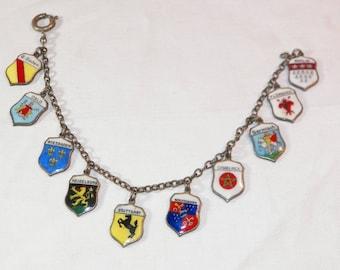 Sterling Silver Florence Charm Bracelet, 925 Casablanca Charm Bracelet, Vintage Sterling Multi Charm Bracelet, Genuine Garmisch Charm