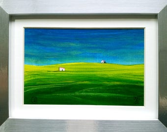 Pretty Empty Space, Minimalist Style, Small Artwork, small wall art, small original art, small size paintings, tiny art, original art pieces