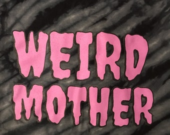 LIMITED EDITION - Lavender ink Weird Mother hand dyed shirt