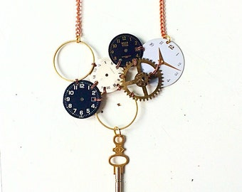 Asymmetrical necklace dials and big gear