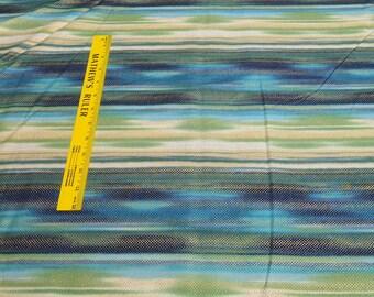 Fortissimo Metallic-Marine Stripes Cotton Fabric from Robert Kaufman Fabrics
