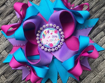 Unicorn Stay Magical Boutique Hairbow