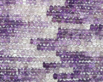 """14"""" St Shaded Amethyst Faceted Rondelle 3x2mm.Strand 37cm"""