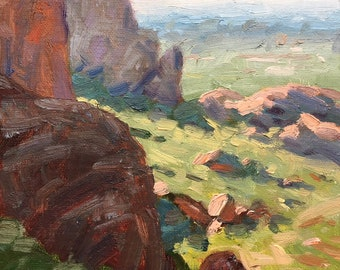 Landscape 7x5 Small Oil Painting