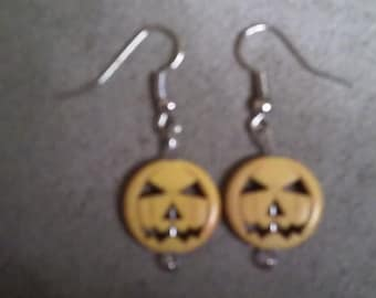 Yellow Pumpkin Earrings