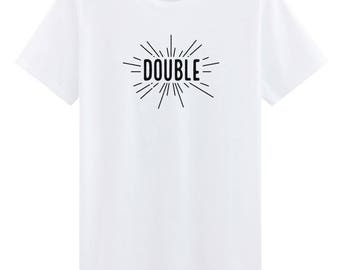 Double Trouble Embroidered T-Shirt Best Friends T-Shirt Indie T-shirt