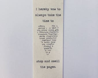 Smell the Pages Bookmark