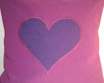 Application purple heart pillow cover