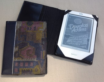 E reader, Kobo case,leather e reader case, book style case, padded case, tablet cover,