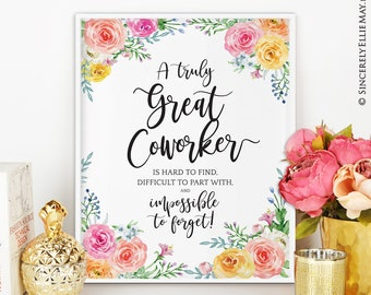 Goodbye gift etsy coworker friend leaving goodbye gift office wall art decor printable with quote a truly m4hsunfo