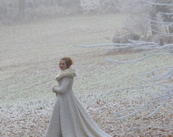 Fairy Tale - Fantasy wedding dress for winter - Inspired by Sansa Stark wedding dress