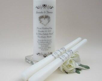 Unity Candle Set - Personalised Unity Candle - Wedding Candles - Unity Candle