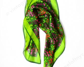 True Vintage Silk Scarf 1960s , 60s Italian Mod Graphic Art Pop Art Matisee Cutout NWOT Deadstock