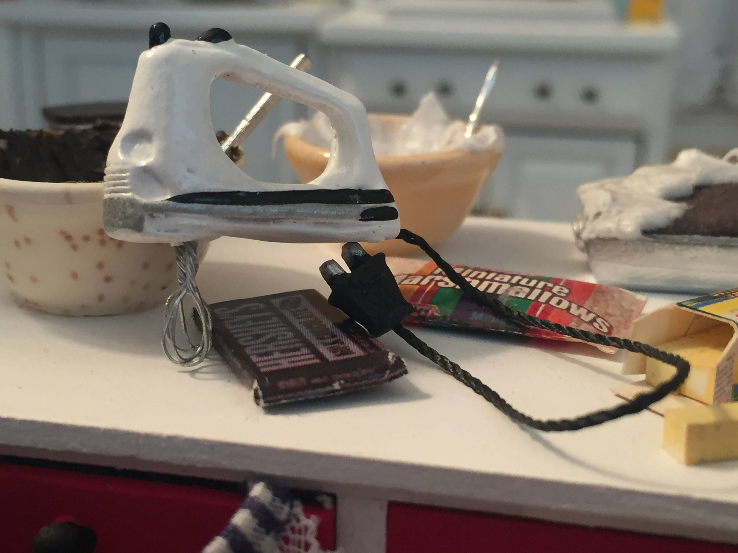 Miniature Hand Mixer Dollhouse 112 Scale Electrical Wiring Gallery Photo