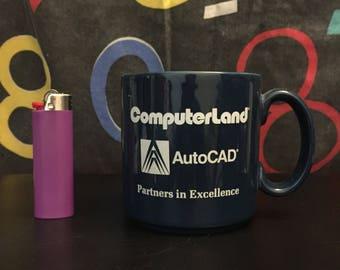 VTG Computerland Blue Coffee Mug
