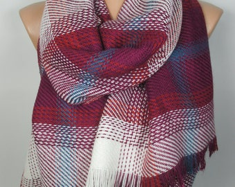 Blanket Scarf Valentines Gift Plaid Scarf Winter Scarf Shawl Women Accessories Christmas Gift  For Women Gift For Her Women Scarf Men Scarf