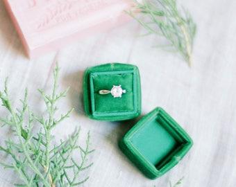 Velvet Ring Box - Vintage Style - Engagement Ring Box - Ring Box - Wedding - Proposal Ring Box