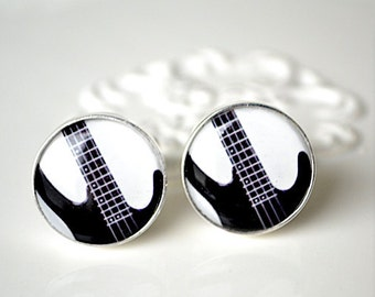 Bass Guitar Cufflinks - keepsake for the groom groomsmemn or husband for your wedding day or birthday