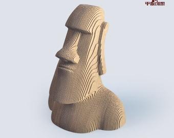Moai Statue - DIY Cardboard Craft
