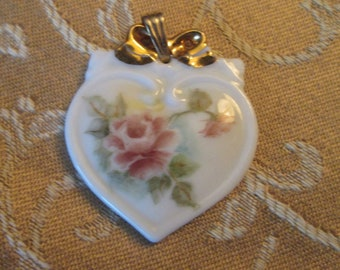 Hand Painted Bone China Pendant